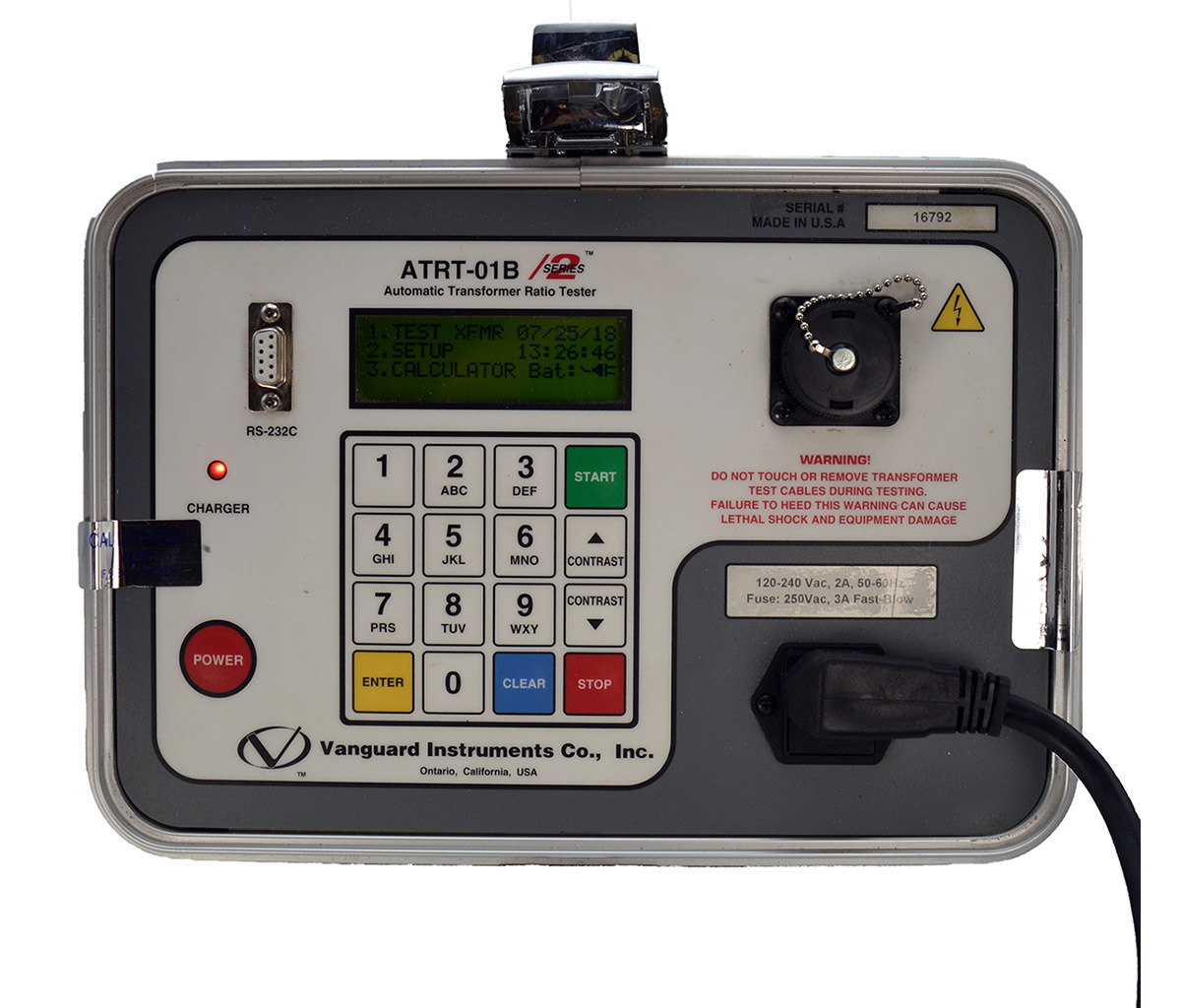 Vanguard - ATRT-01B S2 Transformer Turns Ratio Tester